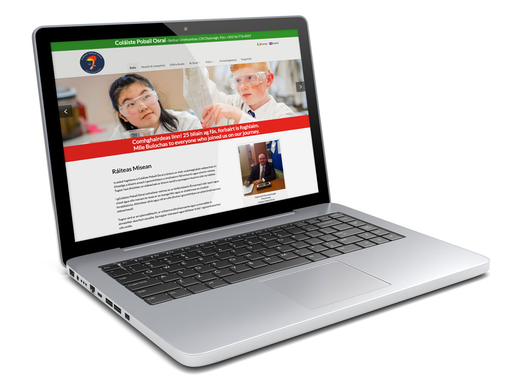 Marking the 25th anniversary of the Coláiste with a new website