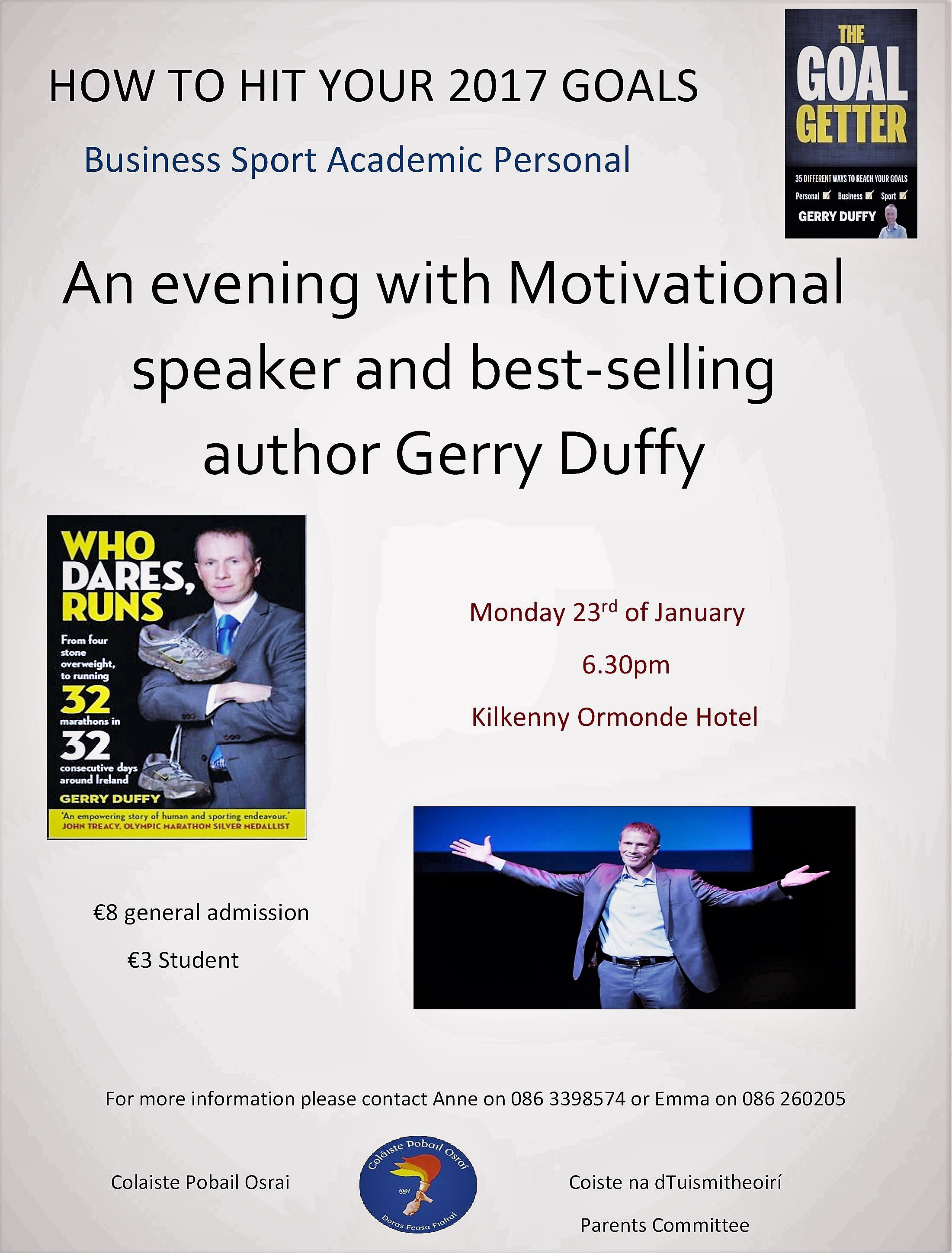 Gerry Duffy -Speaking Monday 23rd 6.30pm at the Ormonde Hotel