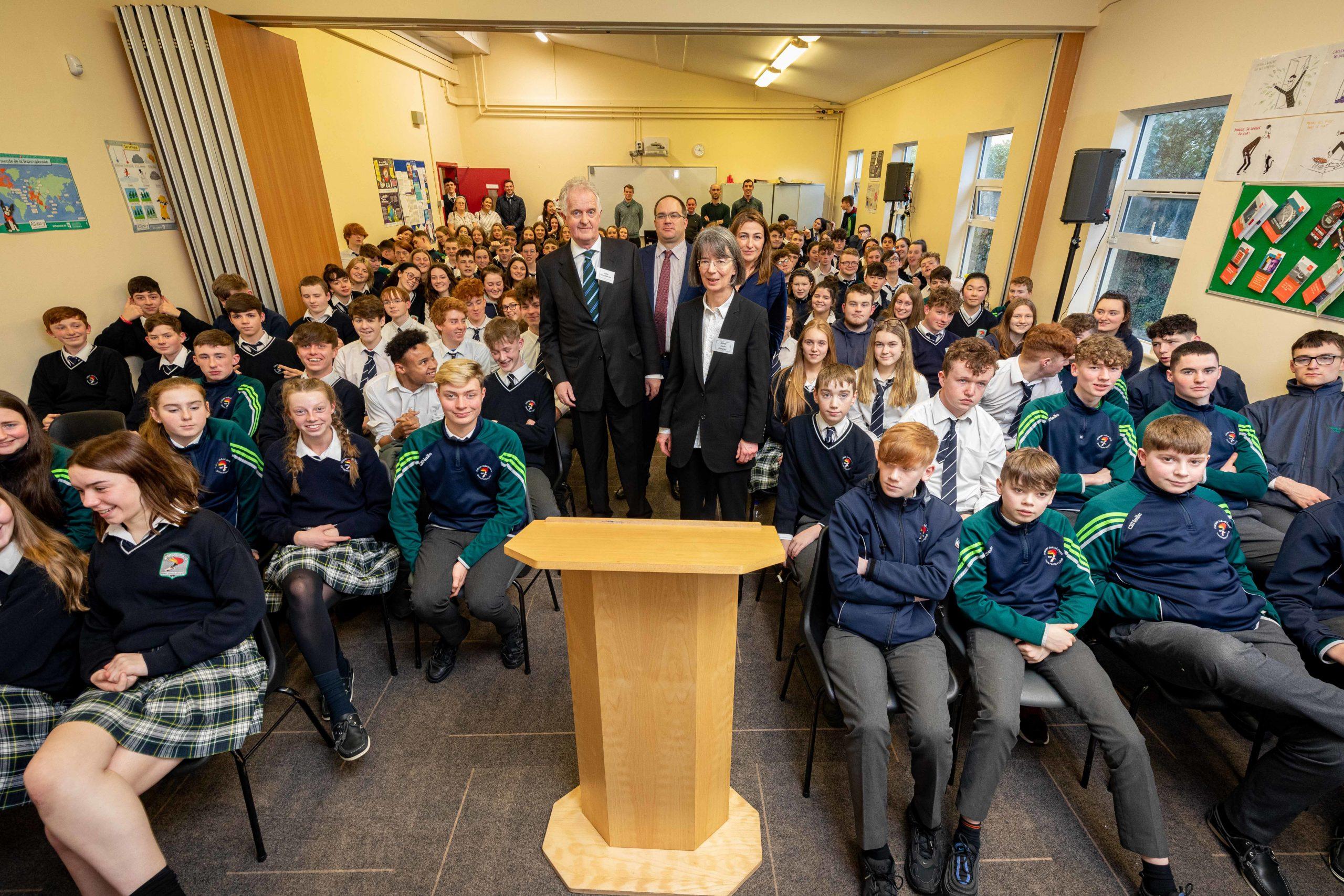Supreme Court Visit to Coláiste Pobail Osraí – Cúirt ón gCúirt Uachtarach