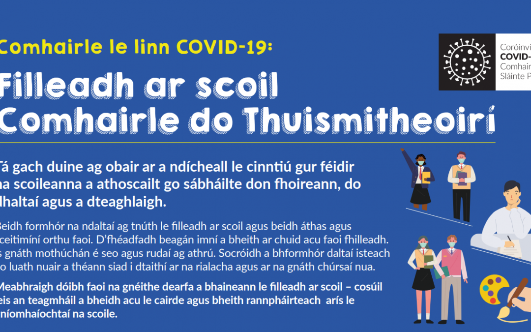 Fáilte roimh Bhliain a 5 – 5th Year Return to School