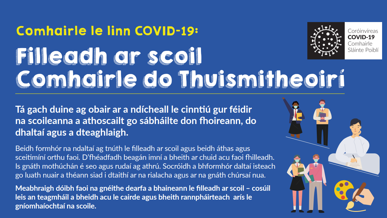 Fáilte roimh Bhliain a 5 – 5th Year Return to School