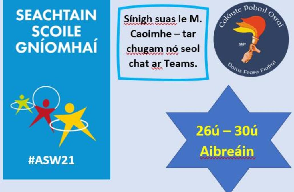Seachtain Scoile Gníomhaí – Active Schools Week
